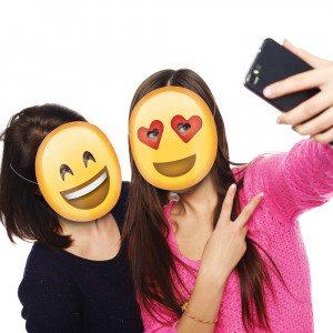 Emoticon-Partymasken Close-up