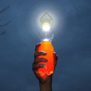 Flaskelampe til udendørs belysning