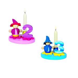 Fødselsdagslyseholder med udskiftelige tal
