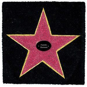 Fußmatte Walk of Fame - Mit Ihrem Namen