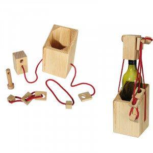 Gådepuslespil til vinflasker