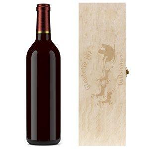 Gaveæske til vinflasker med juleindgravering