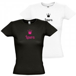 "Damen T-Shirt ""Name mit Krone"""
