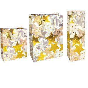 Gavepose fyldt med stjerner