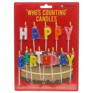 "Geburtstagskerzen ""Happy Birthday"""