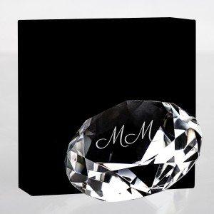 Glasdiamant med indgravering