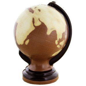 Globus af chokolade