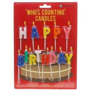 Happy Birthday-fødselsdagslys