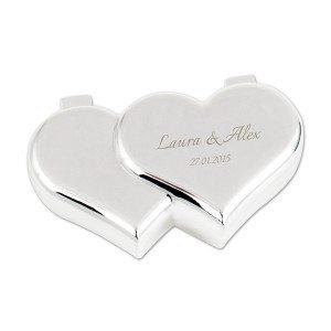 Hjerteformet ringæske med indgravering