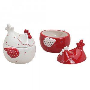 Høneformet keramikskål