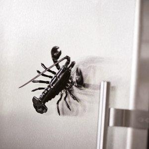 Hummer – køleskabsmagnet med bevægelige ben