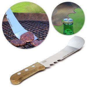 Indgraveret machete til grillen  med oplukker
