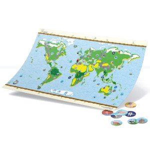 Interaktivt verdenskort med klistermærker