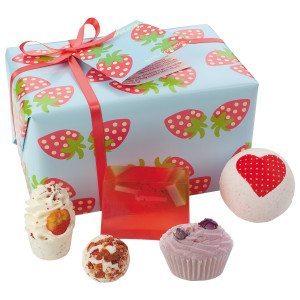 Jordbærdrøm - gavesæt til badet