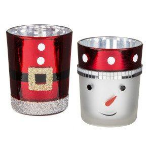 Julefyrfadsstager af glas