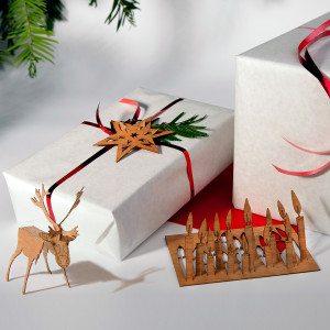 Julekort i træ