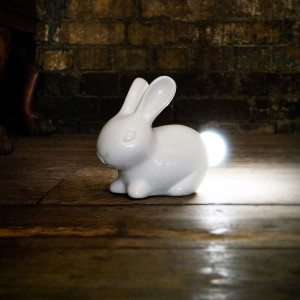Kaninlampe med lys i halen