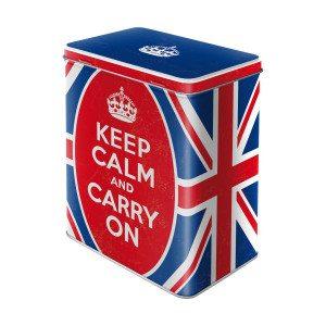 Keep Calm and Carry On-blikdåse
