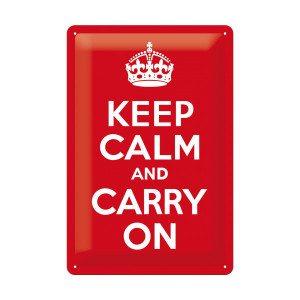 Keep Calm and Carry On-blikskilt