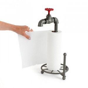 Køkkenrulleholder formet som en vandhane