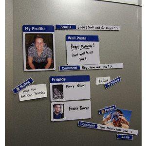 Køleskabsmagneter i Facebooklook