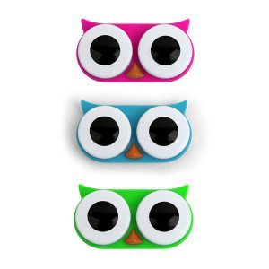 Kontaktlinsebeholder formet som en ugle