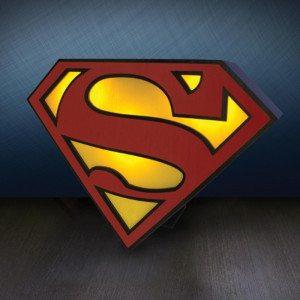 Lampe med Superman-logo