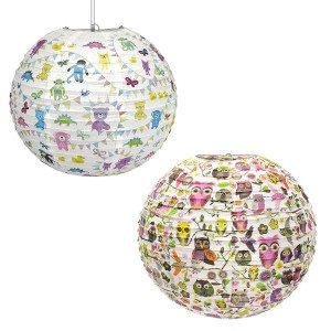 Lampeskærm med dyremotiv