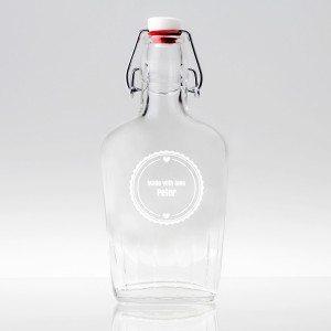 Lille flaske med indgravering