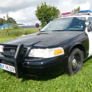 Limousinekørsel i amerikansk L.A.P.D politibil for op til 4 personer - Midt-/Vestsjælland