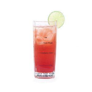 Longdrinkglas med opskrift