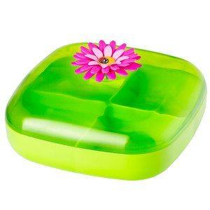 Madkasse med blomst
