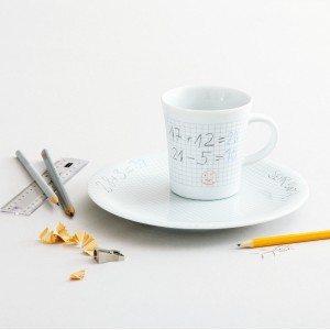 Mal-selv-sæt med kop og tallerken