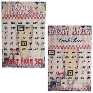 Metalkalender i øl-tema