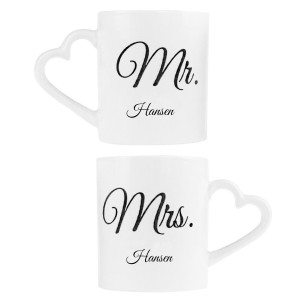 Mr. & Mrs. - kaffekrus til parret