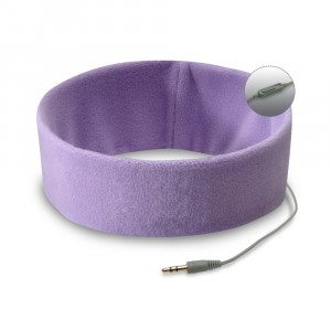 Pandebånd med indbyggede høretelefoner (lilla)