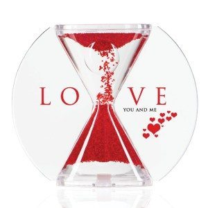 Paradoksalt timeglas med kærligt budskab