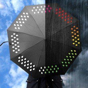 Paraply der skifter farve