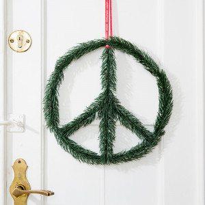 """""""Peace!"""" Weihnachts-Türkranz mal anders"""