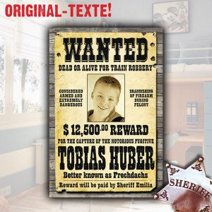 "PERSONALIZED WILD WEST ""WANTED"" POSTER"