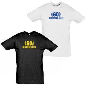 Personlig jubilæum T-shirt til mænd
