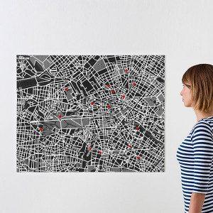 Pin City - bykort som opslagstavle