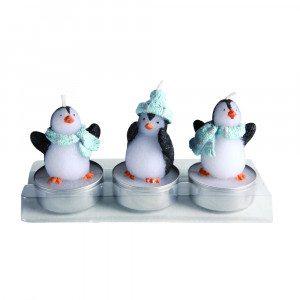 Pingvin-stearinlys