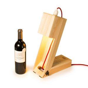 RACKPACK - vinkasse med lampe og indgravering