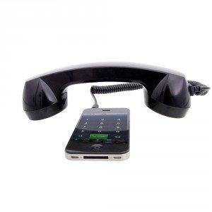Retro Telefonhörer mit iPhone