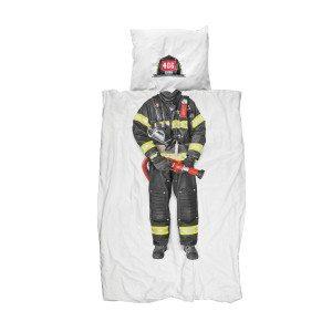 Sengetøj med brandmandstryk