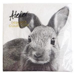 Servietter med en sød kanin