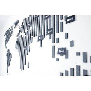 Set: Innovativer Wandschmuck aus Schaumstoffkacheln - Map