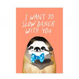 Sjovt kunstprint - Slow dance