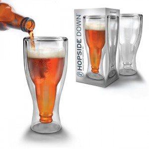 Skørt ølglas med flaskehals